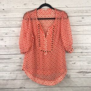 41 Hawthorn Stitch Fix Popover Blouse L